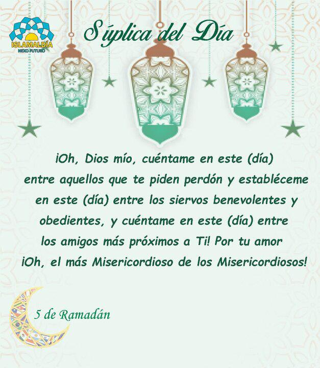 Súplica del Día 5 del Mes de Ramadán