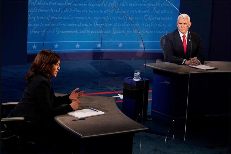 """""""Firme y penetrante"""": los analistas dicen que Harris se impuso a Pence"""