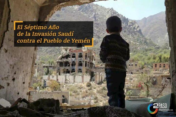En vísperas del séptimo año de la invasión saudí a de Yemén