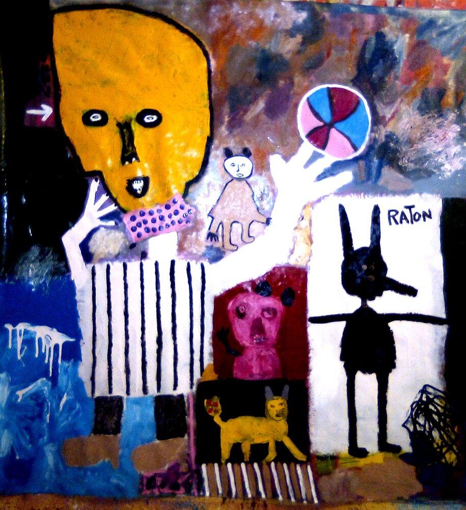 GALERÍA TIERRA. José Gregorio Graterón. Cabeza amarilla. Acrílico y óleo sobre tela. 2021