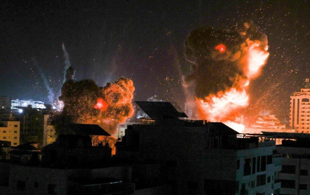 Bombardeo en Gaza. Foto @PalestinaHoy
